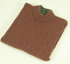 TUNDRA Canada Mock Turtleneck Wool Cable Knit Sweater Large L Rust Red Acrylic