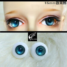 Nice DarkBlue Iris withStripes 14mm Glass Eyes for NiceBorn Joint 1//4 BJD Dollf