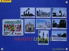 Panini★WM 1986 WorldCup WC 86★ Städte-Bilder komplett / Cities complete set