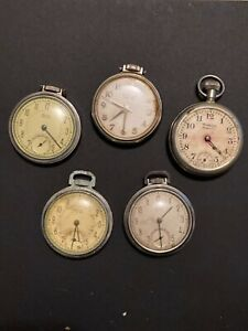 5 Westclox Pocket Ben Watches Made in USA