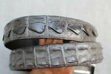 Gray Genuine Crocodile Leather SKIN MEN'S Belt - W 1.5 inch