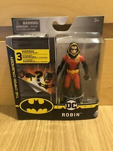 """Robin With Hood DC The Caped Crusader 4"""" Figure Brand New In Box 3 Accessories"""