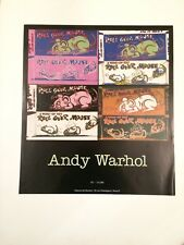 POSTER ANDY WARHOL ROLL OVER MOUSE ISY BRACHOT 1990