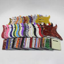 US Set of Strat Guitar Pickguard SSS 11 Holes Scratch Plate + Back Tremolo Cover