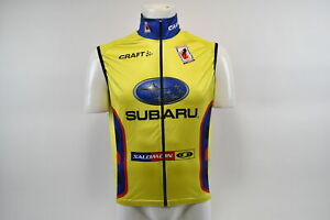 Brand New Craft Subaru Factory Team Nordic Ski Vest, Yellow/Red/Blue, Size XS