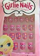 LITTLE GIRLS STICK ON NAILS FING'RS HEARTS & OWLS LITTLE NAILS FOR LITTLE FINGER