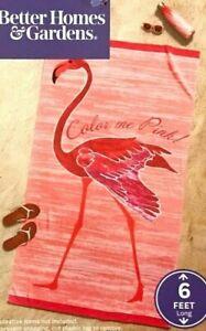 "Better Homes & Gardens Pink Flamingo Oversized Plush Beach Towel 40"" x 72"""