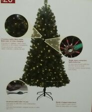 NEW 6.5' LED PreLit ALPINE Pine Christmas Tree COLOR CHANGING Lights FOOT SWITCH
