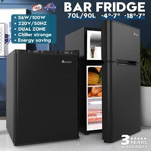 73L/90L Fridge Freezer Portable Beer Beverage Bar Home Commercial Refrigerator