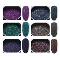 6 Boxes Holographic Nail Art Powder Glitter Laser Holo Nail Art Decorations
