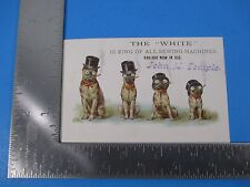 """Antique Trade Card The """"White"""" King of All Sewing Machines John M. Temple S3352"""