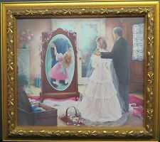 THROUGH A FATHERS EYES BY PAULA VAUGHAN W/COA FRAMED ALSO 1 FREE PRINT