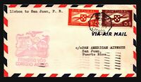 Portugal 1941 First Flight Cover to Puerto Rico - Z17827