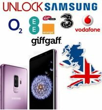 Unlock code Samsung Galaxy S9 S9+ Plus O2 EE Vodafone Three 2-24 Hour service