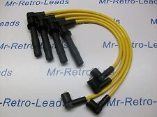 YELLOW 8MM PERFORMANCE IGNITION LEADS TO FIT. VW GOLF BORA 1.6 1.4 16V QUALITY