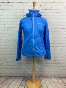 COLUMBIA Women's XS Full Zipper Running Windbreaker Hoodie Jacket
