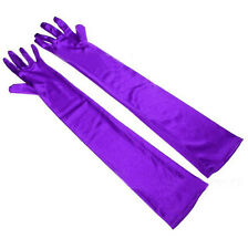 Women Satin long gloves opera wedding Bridal Evening Party costume Gown GLOVES