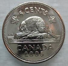 2006 NO P CANADA 5¢ BRILLIANT UNCIRCULATED NICKEL