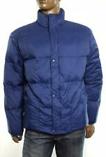 New Mens Lacoste Full Zip Blue Water Resistant Down Puffer Jacket 58 2XL