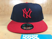 NEW ERA COOPERSTOWN MLB NEW YORK YANKEES LOGO 59FIFTY FITTED HAT NAVY 7 1/4 NEW