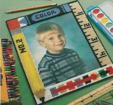 Plastic Canvas Pattern ~ School Days Picture Frame ~ Instructions