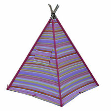Large 5 Pole Children's Teepee Pink Candy Play Tent Cubby House TIpi Toy Toddler