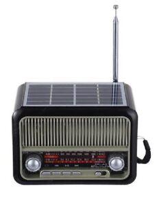 RADIO SOLAR AM-FM-SW-MP3-USB-TF-BLUETOOTH
