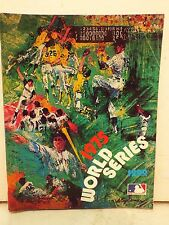 MAJOR LEAGUE BASEBALL 1975 WORLD SERIES PROGRAM CINCINNATI REDS VS BOSTON RED SO