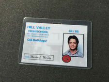 Back To The Future ID Badge-Hill Valley High School Marty McFly cosplay