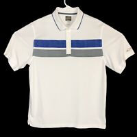 Greg Norman For Tasso Elba Mens Golf Polo Shirt Play Dry White Size Large