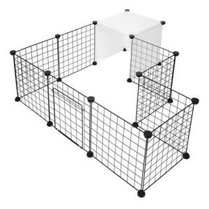 14-Panels Pet Playpen Small Animals Dog Cage Fence