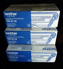 BROTHER TN-2110 x3 off DCP-7030 32E 40 45N - 1 Box open see pix 2 SEALED GENUINE