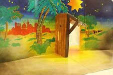 Playmobil Christmas Baby Jesus Bethlehem Nativity Scene Backdrop Manger 30893630
