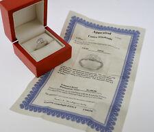 COSTCO 14K WHITE GOLD 1/2 CTTW PRINCESS CUT & ROUND DIAMOND ENGAGEMENT RING 8.25