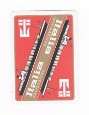 1 Single VINTAGE playing/swap card SHIPPING ITALIA LINE Red S12
