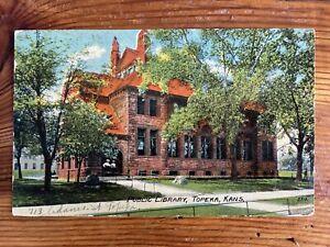Public Library, Topeka, Kansas - 1911 Vintage Postcard