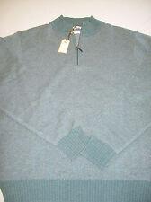 Peter Millar 100% Cashmere Quarter Zip Heather Green Sweater NWT Large $425