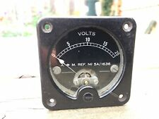0 - 20V Voltmeter Vintage 1940 WW2 Pullin Of London