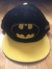New Era 59 Fifty en velours côtelé Batman Cap Taille 7/1/2 très bon état RARE Comme neuf