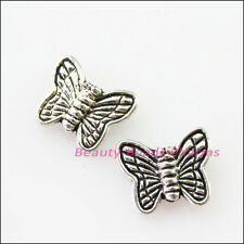 40Pcs Tibetan Silver Animal Butterfly Spacer Beads Charms 8.5x10mm