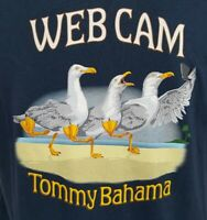 Tommy Bahama Navy Blue Web Cam S/S Men's Tee Shirt NWT $49.50 Choose Size
