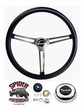 "1968-1969 GTX Roadrunner steering wheel STAINLESS 15"" MUSCLE CAR steering wheel"