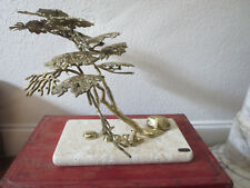 Brutalist Large Brass Brain Bijan Bonsai Tree Table top Sculpture