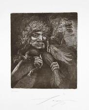Ernst Fuchs 1930 Wien / Vogelfresser / Radierung,signiert / Auflage Limitiert