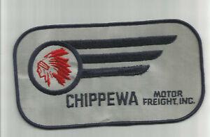 Chippewa Motor Freight Inc jacket size truck driver patch 3-7/8 X 7-3/8