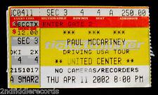 PAUL McCARTNEY-Original April 11,2002 Vintage Chicago Concert Ticket-THE BEATLES