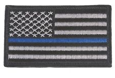 USA Thin Blue Line Police Patch Blue Lives Matter USA America Flag