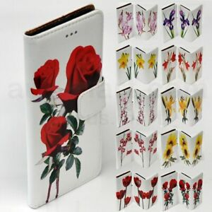 For Sony Xperia Series - Flower Print Theme Wallet Mobile Phone Case Cover