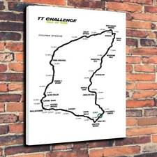 """Isle Of Man TT Course Speeds Printed Canvas Picture A1.30""""x20"""" - 30mm Deep"""