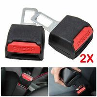 2pcs Car seat Belt Clip Alarm Stopper Extension Extender  Plug Buckle Warranty